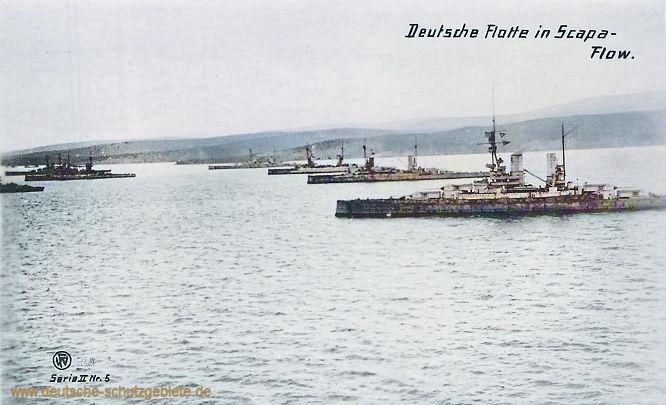 Deutsche Flotte in Scapa-Flow.
