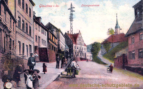 Glauchau. Leipziger Straße